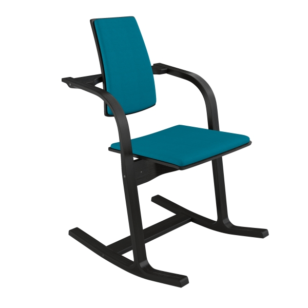 Fauteuil à bascule ergonomique en tissu bleu - Actulum Varier® - 29