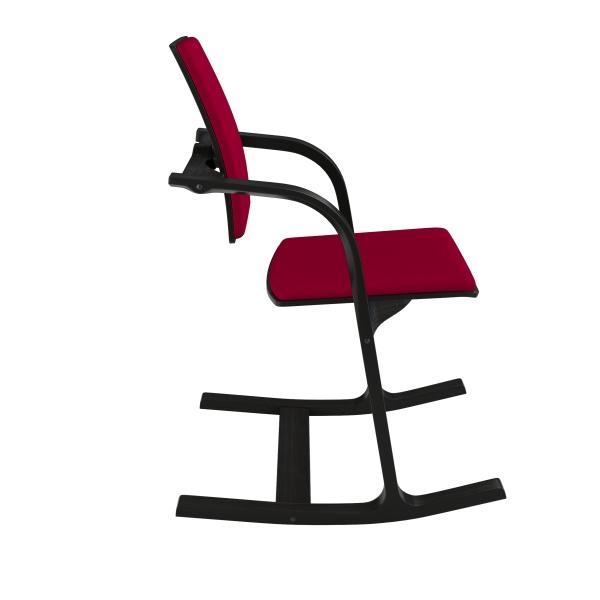 Fauteuil ergonomique à bascule en tissu bordeaux - Actulum Varier® - 27