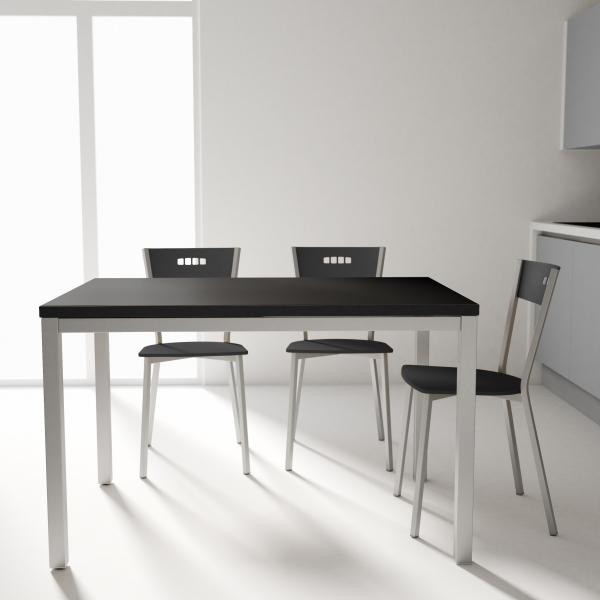 Chaise de cuisine moderne en bois et métal - Versus - 4