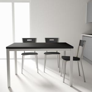 Table de cuisine avec rallonge en céramique - hauteur 75 cm - Toy métal 10