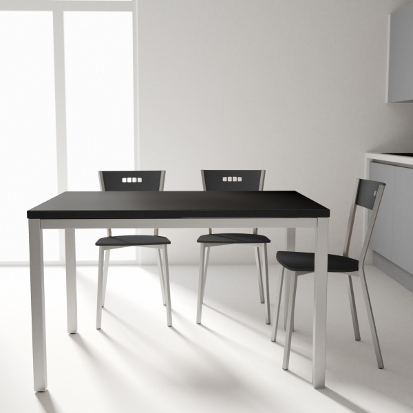 Table de cuisine avec rallonge en céramique - hauteur 75 cm - Toy métal 10 - 1