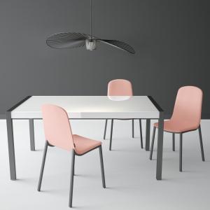 Table en verre extensible - Concept métal
