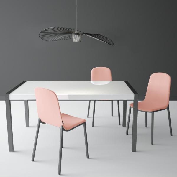 Extensible Métal Table Verre Concept En CoWBerdx