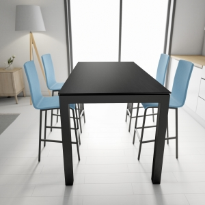 Table snack rectangulaire en céramique et métal - Coma bar