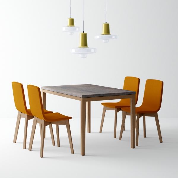 Table de cuisine en céramique avec rallonge - Toy bois - 1