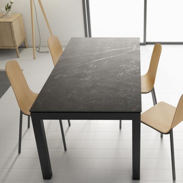 Table en Dekton rectangulaire avec pieds en métal - Lakera - 3