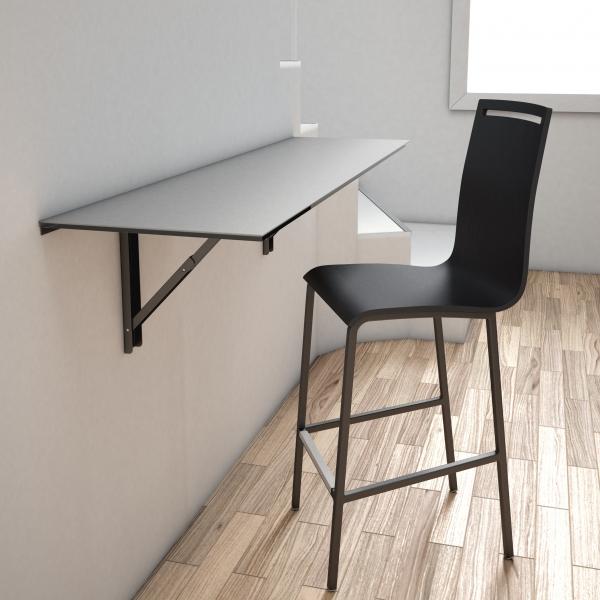 Table murale rabattable en verre - Vulcano 8 - 2