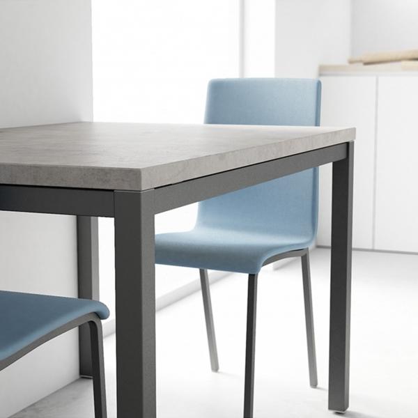 Table de cuisine avec rallonge en céramique - hauteur 75 cm - Toy métal 10 - 3