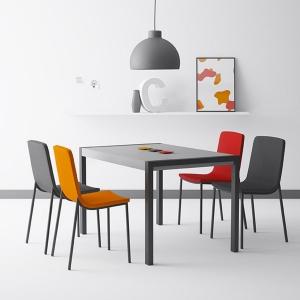 Table en céramique avec allonges - Concept métal