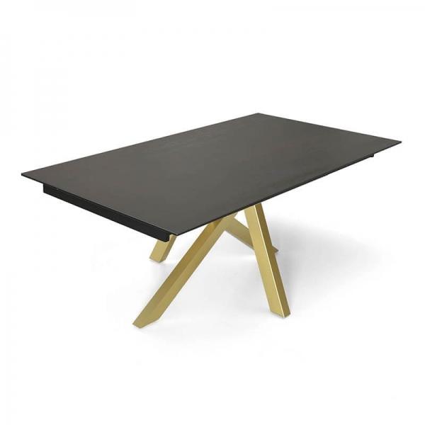 Table design en Dekton avec pieds central - Moon - 2