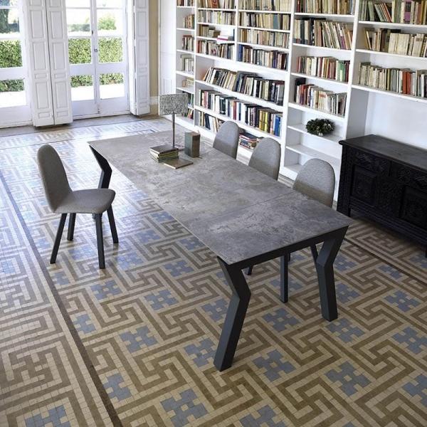 Table design extensible en Dekton gris - Sky plus - 1