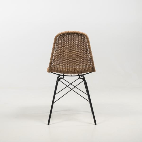 Chaise exotique tressée avec pieds noirs - Bornéo - 8