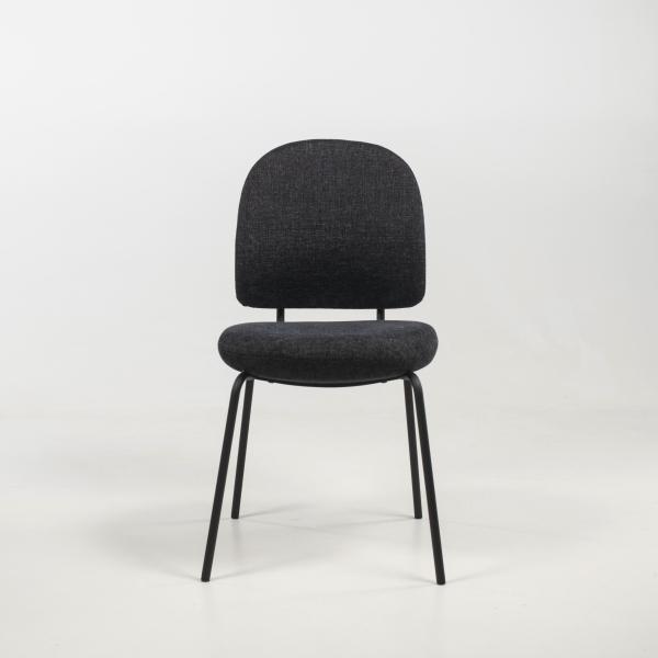 Chaise confortable rembourrée coloris anthracite - Lilas - 3