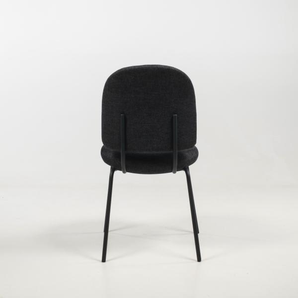 Chaise rembourrée coloris anthracite - Lilas - 6