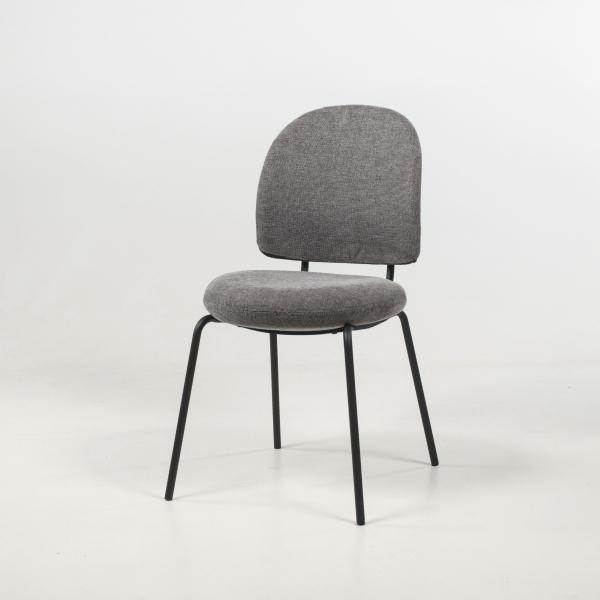 Chaise rembourrée confortable coloris gris - Lilas - 10