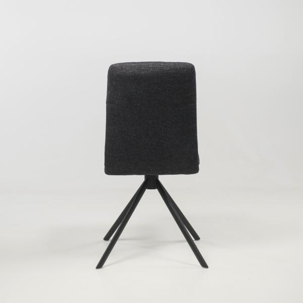 Chaise tournante en tissu anthracite - Jacynthe - 8
