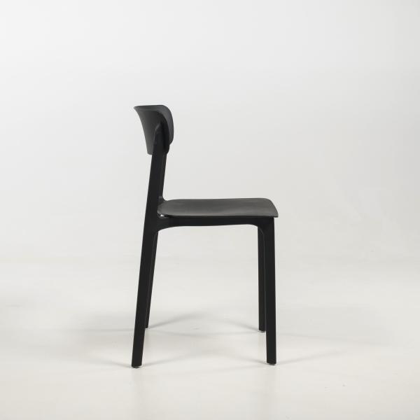 Chaise tendance noire - Neptune - 4
