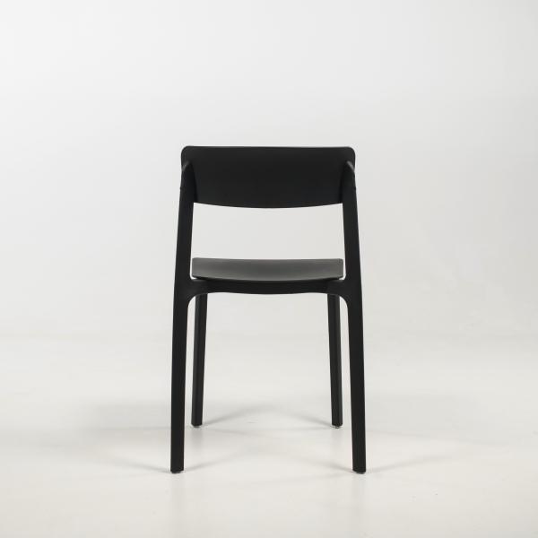 Chaise en plastique noir- Neptune - 6