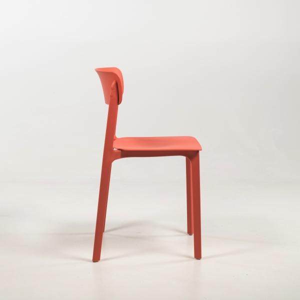Chaise en polypropylène corail - Neptune - 15