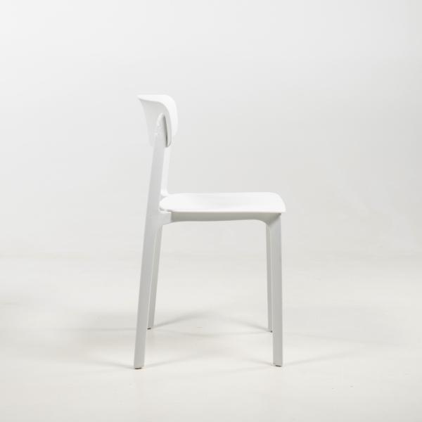 Chaise en polypropylène blanc - Neptune - 18