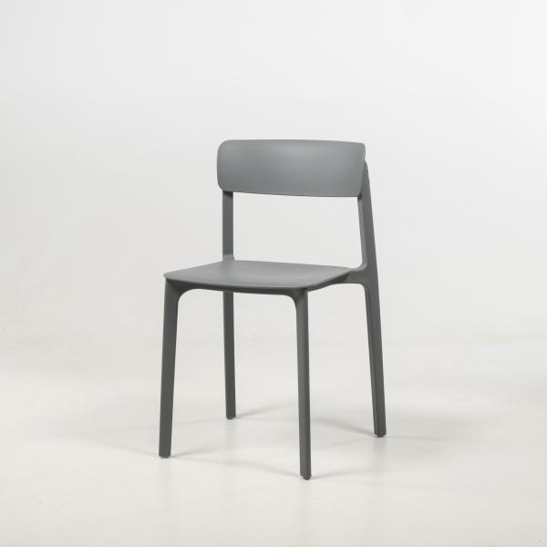 Chaise en polypropylène gris - Neptune - 24
