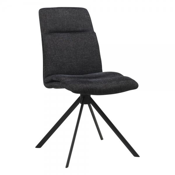 Chaise pivotante en tissu rembourrée avec pieds obliques - Jacynthe
