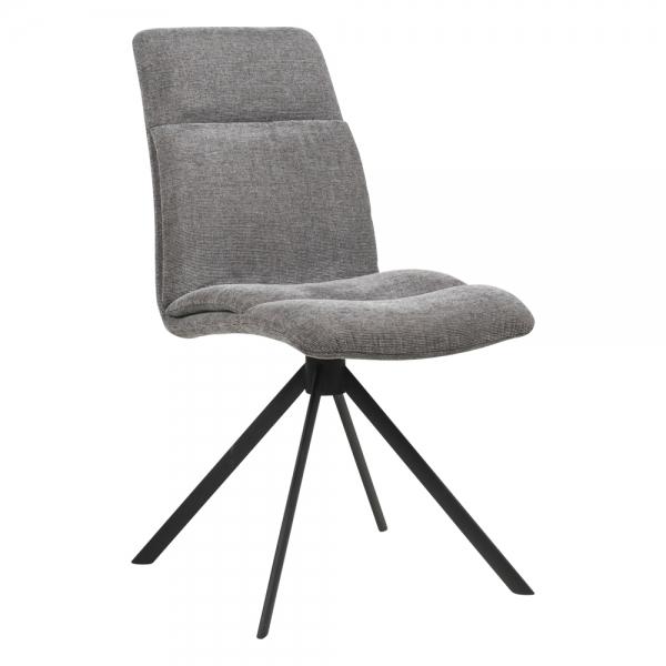 Chaise pivotante en tissu gris - Jacynthe - 13
