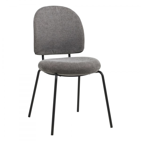 Chaise confortable rembourrée coloris gris - Lilas - 9