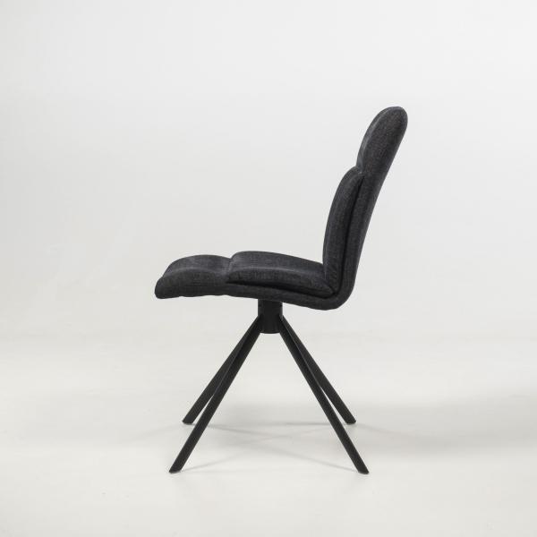 Chaise pivotante en tissu gris foncé - Jacynthe - 5