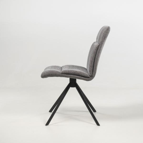 Chaise pivotante rembourrée grise - Jacynthe - 15