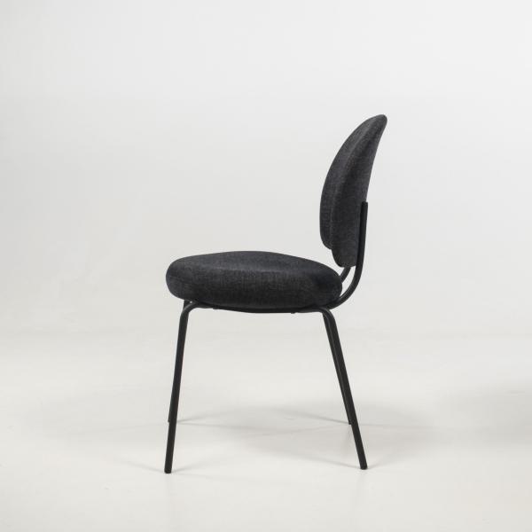 Chaise rembourrée confortable coloris anthracite - Lilas - 7