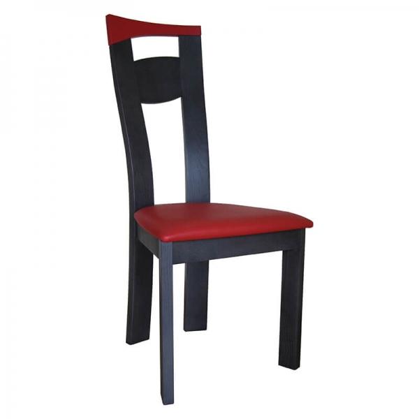 Chaise de salle à manger fabriquée en France en synthétique et bois massif - Calypso - 1