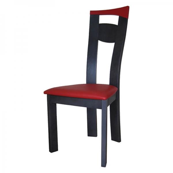 Chaise de séjour fabriquée en France rouge et noire - Calypso - 2