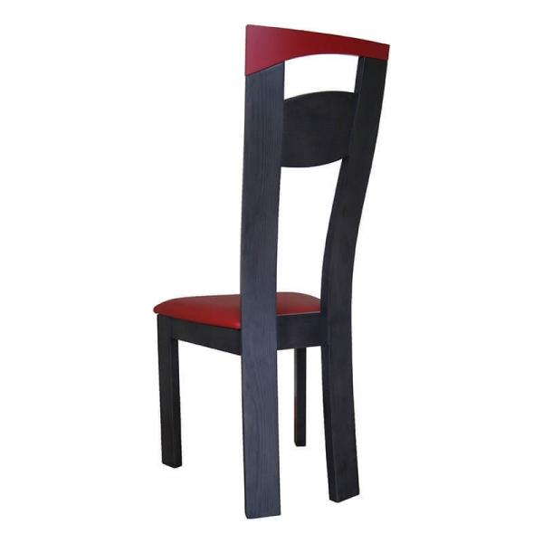 Chaise de salle à manger fabriquée en France en synthétique et bois massif - Calypso - 4