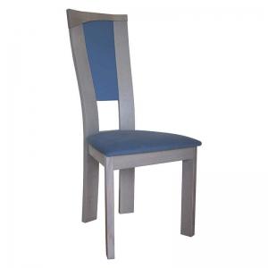 Chaise de salle à manger contemporaine française bleue - Nymphéa