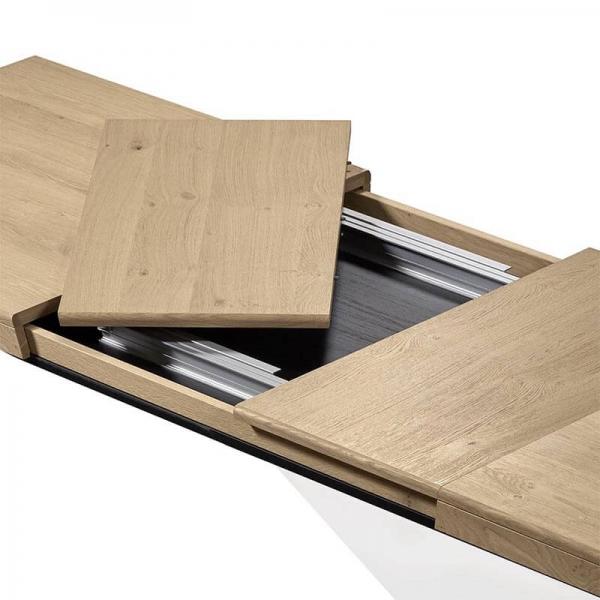 Table de salle à manger en bois extensible pieds en X - Dublin - 4