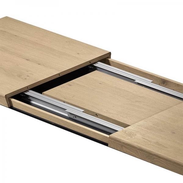 Table de salle à manger en bois avec allonges pieds en X - Dublin - 3