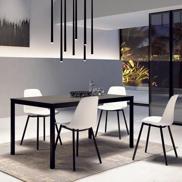 Chaise de salle à manger  en polypropylène et métal - Claudio - 8