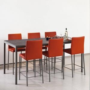 Table snack rectangulaire plateau stratifié et pieds en métal - Cobra