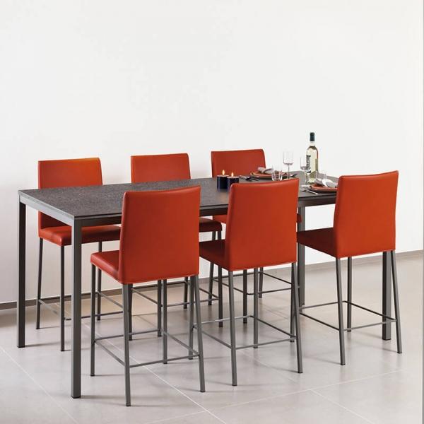 Table snack rectangulaire plateau stratifié et pieds en métal - Cobra - 1