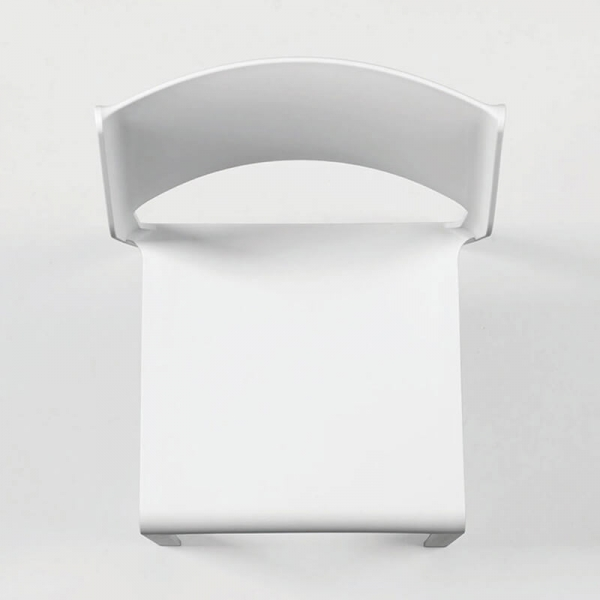 Chaise de terrasse empilable en polypropylène blanc - Trill bistrot - 4