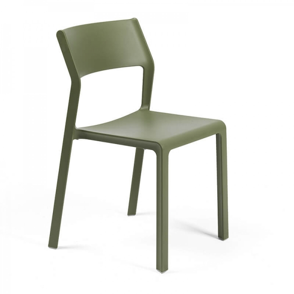 Chaise de jardin empilable en polypropylène vert agave - Trill bistrot - 5