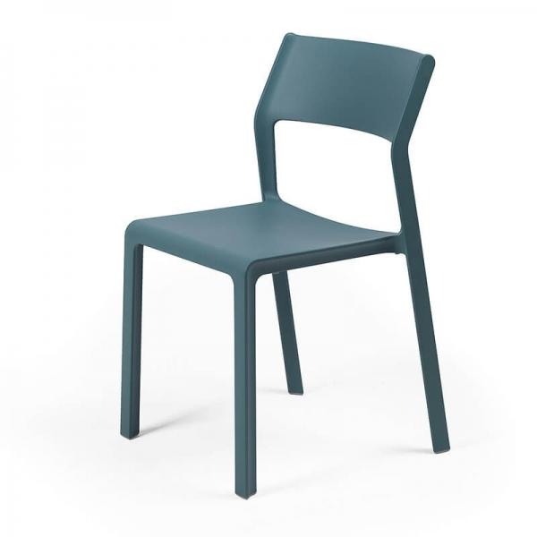 Chaise de terrasse empilable en polypropylène vert octane - Trill bistrot - 12