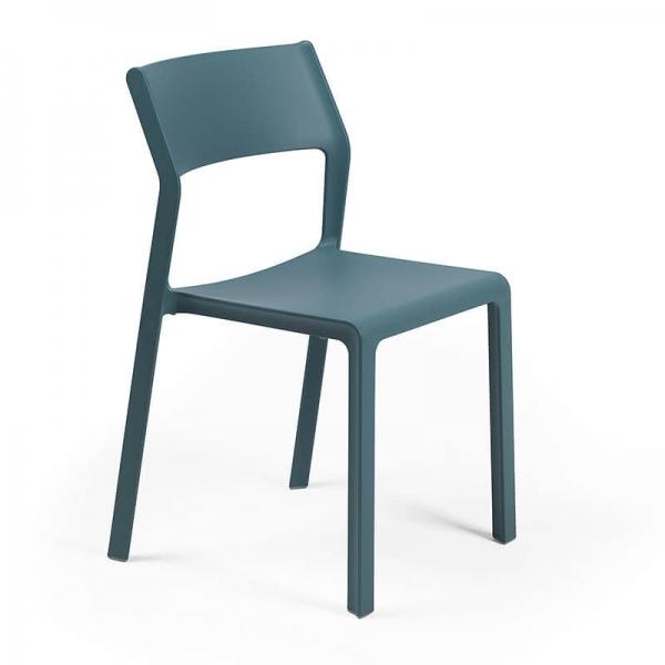 Chaise de jardin empilable en polypropylène vert octane - Trill bistrot - 11