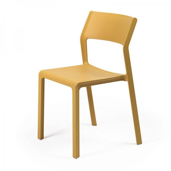 Chaise de jardin empilable en plastique moutarde - Trill bistrot - 14