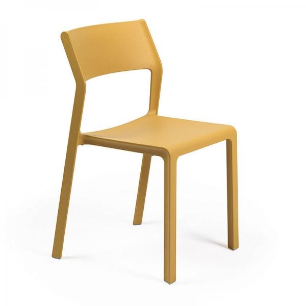 Chaise de jardin empilable en polypropylène moutarde - Trill bistrot - 13