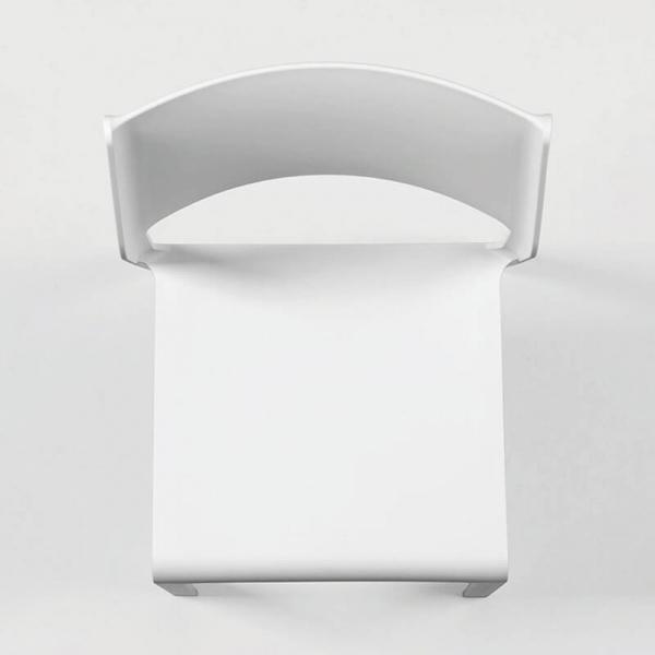Chaise moderne en polypropylène blanc empilable - Trill bistrot - 4
