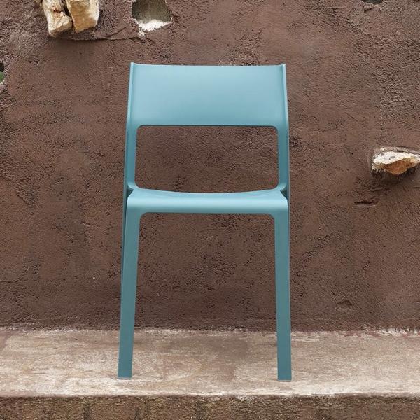 Chaise moderne en polypropylène empilable - Trill bistrot - 2