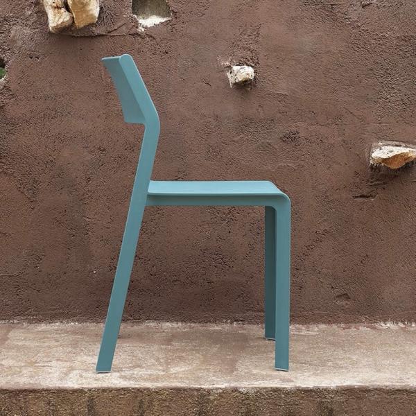 Chaise moderne en polypropylène empilable - Trill bistrot - 3