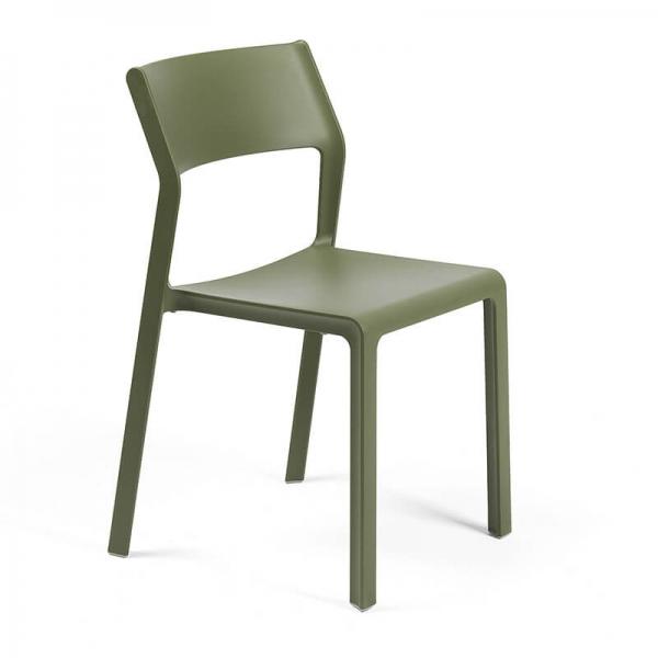 Chaise moderne en polypropylène agave empilable - Trill bistrot - 5